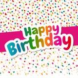 Cartão bonito do feliz aniversario Imagem de Stock