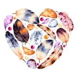 Cartão bonito do molde para o dia de Valentim feliz Imagem de Stock