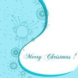Cartão bonito do Natal Fotografia de Stock