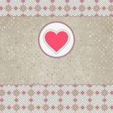 Cartão bonito do Valentim com coração. EPS 8 Fotografia de Stock