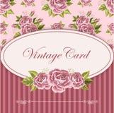 Cartão bonito do vintage Imagens de Stock Royalty Free
