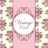 Cartão bonito do vintage Imagem de Stock Royalty Free
