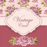Cartão bonito do vintage Fotos de Stock