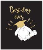 Cartão bonito/fundo da graduação Imagem de Stock