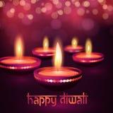 Cartão bonito para a ilustração feliz hindu do fundo do festival do diwali de Diwali do festival de comunidade Foto de Stock Royalty Free