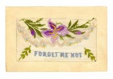 Cartão bordado Fotografia de Stock
