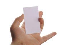 Cartão branco Imagem de Stock