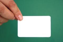 Cartão branco Imagem de Stock Royalty Free