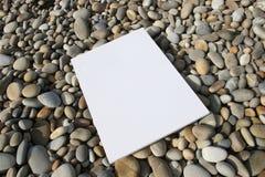 Cartão branco isolado Fotografia de Stock Royalty Free