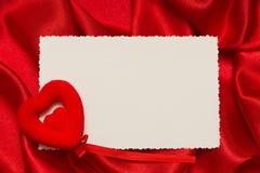 Cartão branco para felicitações Fotografia de Stock Royalty Free