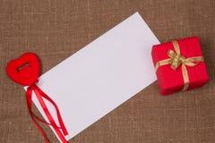Cartão branco para felicitações Imagens de Stock Royalty Free