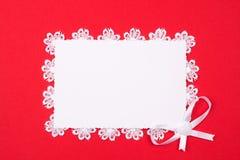 Cartão branco para felicitações Imagem de Stock Royalty Free