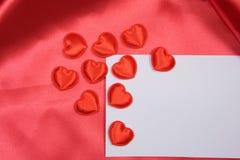 Cartão branco para felicitações Imagens de Stock
