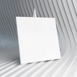 Cartão branco vazio ilustração do vetor 3d Imagem de Stock