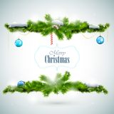 Cartão brilhante do Feliz Natal Fotos de Stock Royalty Free