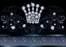 Cartão brilhante do VIP da coroa da rainha Fotos de Stock Royalty Free