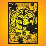 Cartão a céu aberto com jaque e spiderwebs ilustração stock