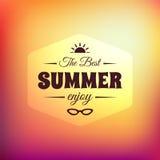 Cartão caligráfico denominado retro do projeto do verão Fotos de Stock