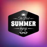 Cartão caligráfico denominado retro do projeto do verão Fotografia de Stock