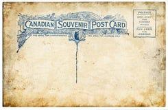 Cartão canadense velho foto de stock royalty free