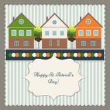 Cartão/cartaz felizes do dia do ` s de St Patrick Fotografia de Stock Royalty Free