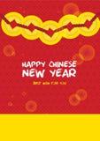 Cartão chinês do ano novo Foto de Stock