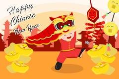Cartão chinês do ano novo Imagens de Stock Royalty Free