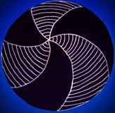 Cartão circular com o teste padrão tirado nele Imagens de Stock