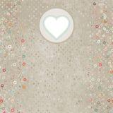 Cartão claro retro elegante com corações. EPS 8 Imagens de Stock Royalty Free