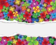 Cartão colorido Fotografia de Stock