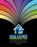 Cartão colorido abstrato dos bens imobiliários ilustração royalty free