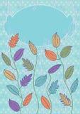 Cartão colorido das folhas Fotografia de Stock Royalty Free