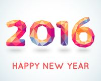 Cartão colorido do ano novo feliz 2016 Imagens de Stock