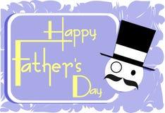Cartão colorido do dia de pais isolado Foto de Stock Royalty Free