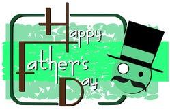 Cartão colorido do dia de pais isolado Imagens de Stock