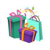 Cartão colorido do feliz aniversario Fotografia de Stock