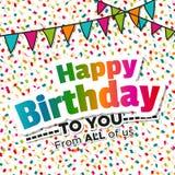 Cartão colorido do feliz aniversario Fotos de Stock Royalty Free