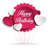 Cartão colorido do fundo do feliz aniversario ilustração stock