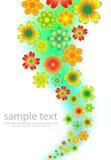Cartão colorido floral Fotografia de Stock Royalty Free