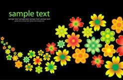 Cartão colorido floral ilustração stock