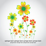 Cartão colorido floral ilustração do vetor