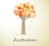 Cartão com árvore do outono Foto de Stock Royalty Free
