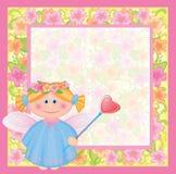 Cartão com anjo. Imagens de Stock
