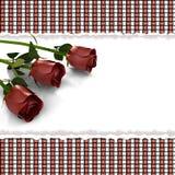 Cartão com as flores cor-de-rosa no estilo retro Foto de Stock