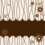 Cartão com as flores estilizados do vetor ilustração do vetor