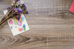 Cartão com balões, espírito, o 8 de março Fotografia de Stock Royalty Free