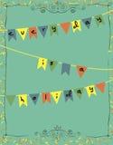 Cartão com bandeiras e slogan engraçado Fotografia de Stock Royalty Free