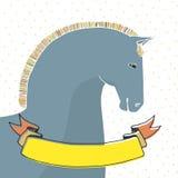Cartão com cavalo Fotografia de Stock