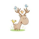Cartão com cervos Fotografia de Stock Royalty Free