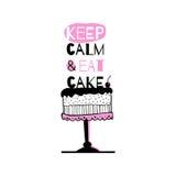 Cartão com citações sobre bolos Fotografia de Stock Royalty Free